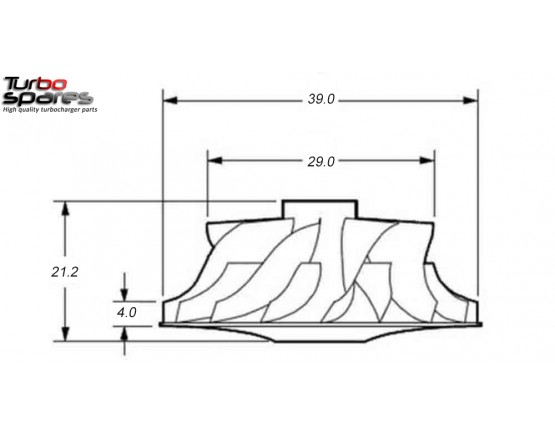 Compressor Wheel RHF38020